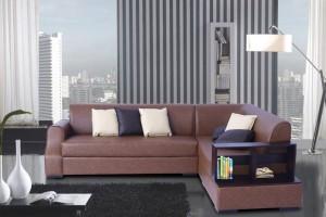 FURNITURE MIND Leatherette 6 Seater  Sofa