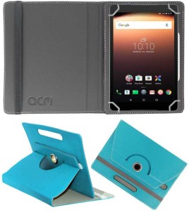 ACM Flip Cover for Alcatel A3 10 10 inch Greenish Blue, Cases with Holder, Artificial Leather