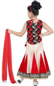 d48342b27a stylokids Girls Lehenga Choli Party Wear, Ethnic Wear Self Design Lehenga,  Choli and Dupatta SetMulticolor, Pack of 1