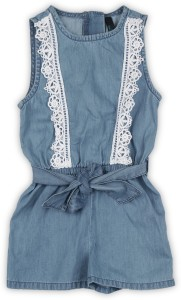 28b1b690581 United Colors of Benetton Romper For Girls Casual Solid Cotton ( Blue Pack  of 1 )