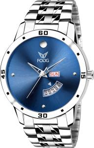 Fogg 2049-BL Blue Day and Date Watch  - For Men