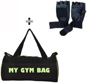 Monika Sports gym bag + gym gloves for exercise in home & gym Gym & Fitness Kit