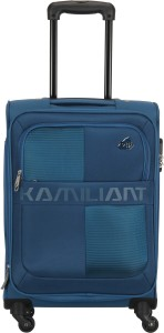 Kamiliant Oromo 67 cm Soft Trolley (Blue) Expandable  Check-in Luggage - 23 inch