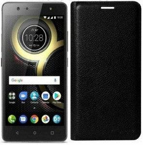 Mobforce Flip Cover for OPPO F3 PlusBlack color, Leather