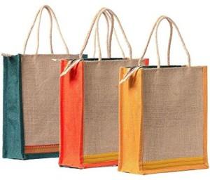 Zoroo by  Plain 3 Jute Bag Combo Waterproof Multipurpose Bag