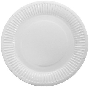 TOTAL HOME Details about 100pcs Disposable Tableware Round Paper Plate Party DIY Craft White Color Plate