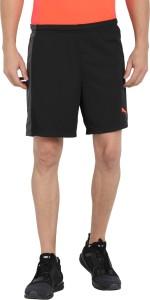Puma Solid Men Black Sports Shorts