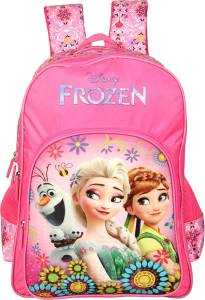 Disney by  Frozen Floral Pink 14' ' School Bag