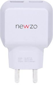 NEWZO SoniLex Mobile Charger White and Grey, Cable Included