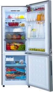 Haier 256 L Frost Free Double Door Bottom Mount 3 Star (2019) Convertible Refrigerator(Black, HRB-2763CKG-E)