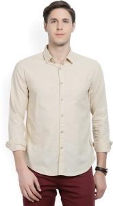 Locomotive Men's Solid Casual Spread Shirt
