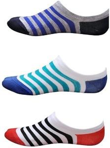 YJ FASHION Men's Striped Peds/Footie/No-Show