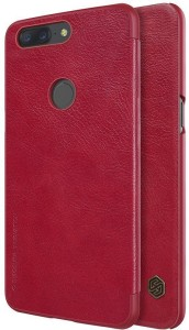 Nillkin Flip Cover for OnePlus 5T Qin Leather