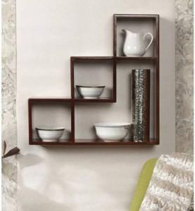CraftOnline wooden book stand Wooden Wall Shelf
