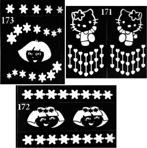 ARR Henna Stencils HS 171,172 & 173HENNA DESIGN