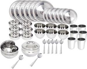 Bartan Hub Stainless Steel Dinner Set 40pcs Pack Of 40 Dinner Set