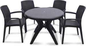 supreme Texas Plastic 4 Seater Dining Set