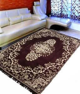 ABhomedecor Brown Chenille Carpet 182  X 274