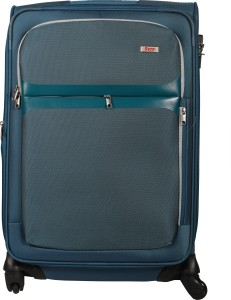 VIP Squad Spinner Soft Trolly 65 cm (Navy Blue) Expandable  Check-in Luggage - 26 inch