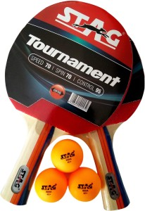 15abff8e9 Stag TOURNAMENT PLAYSET WITH 2 BATS 3 SEAM BALLS Table Tennis Kit ...