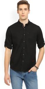 Locomotive Men's Self Design Casual Button Down Shirt