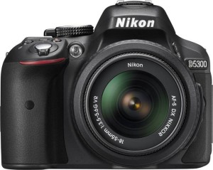 Nikon D5300 DSLR Camera Body with Dual Lens: AF-P DX NIKKOR 18 - 55 mm f/3.5 - 5.6G VR + AF-P DX NIKKOR 70 - 300 mm f/4.5 - 6.3G ED VR (16 GB SD Card + Camera Bag)