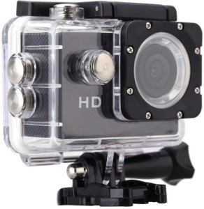 ALONZO SPORT ACTION CAMERA with 1080p Full H D, 12MP, C M O S (H.264) support 32GB S D Card Wide Angle 170° For Android, IOS, Smartphone - Black Sports and Action Camera