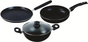 Roxx Secura Stylo Cook Non-Stick 4 Pcs Gift Set Tawa 24 cm diameter with Lid