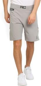 REEBOK Solid Men's Grey Running Shorts