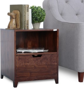 a24caeb4d62 Perfect Homes by Flipkart Egmont Solid Wood Bedside Table Finish ...