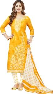 Ishin Cotton Printed Semi stitched Salwar Suit Dupatta Material