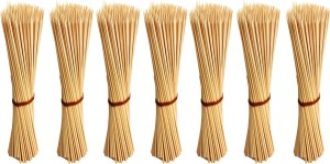Jamboree kebab stick, roast stick, Bamboo Skewers Chocolate Fountain Wooden Fruits BARBECUE Kebab Stick Party Buffet Food Disposable Wooden Roast Fork Set (Pack of 700) Disposable Bamboo Roast Fork