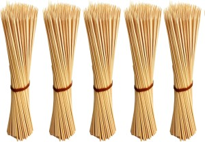 Jamboree kebab stick, roast stick, Bamboo Skewers Chocolate Fountain Wooden Fruits BARBECUE Kebab Stick Party Buffet Food Disposable Wooden Roast Fork Set (Pack of 500) Disposable Bamboo Roast Fork