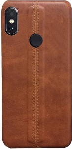 finest selection f9634 f8bfb RGSG Back Cover for Mi Redmi Note 5 ProDARK, BROWN, Waterproof, Leather