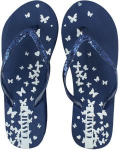 0ba28f08f8c5b8 IRSOE Blue Comfort Foam Printed Wedge Flip Flop Sandal Flip Flops Best Price  in India