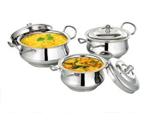 bartan hub Rayal Handi Set With Lid Cookware Set