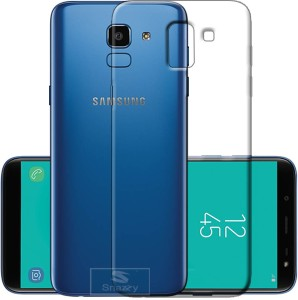 hot sale online ab9ab 6af3e snazzy Back Cover for Samsung Galaxy J6Transparent, Dual Protection,  Flexible Case