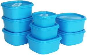 Princeware    4450 ml Plastic Grocery Container Pack of 8, Blue