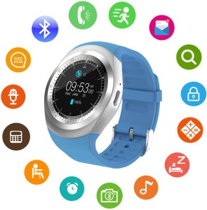 IBS Y1 SmartWatch Touch Screen Support Micro SIM Card with Bluetooth 3 0  Camera Sleep Monitor Outdoor Fitness BLUE SmartwatchBlue Strap FREE