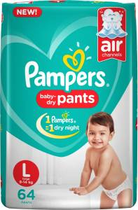 Pampers Pants Diapers New - L