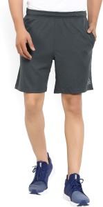 REEBOK Self Design Men's Grey Sports Shorts