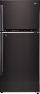 LG 437 L Frost Free Double Door 3 Star (2020) Convertible Refrigerator(Black Steel, GL-T432FBLN)