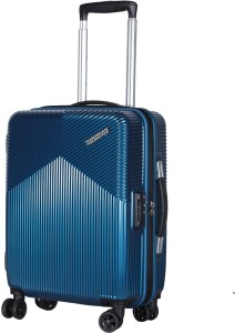American Tourister Armada Spinner Hard Trolley 55cm (Blue) Cabin Luggage - 22 inch