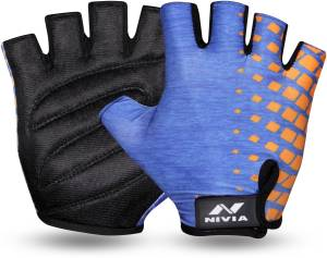 Nivia Topaz Gym & Fitness Gloves (M, Blue)