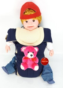 9a5bd50df09 Aayat Kids SmartBuy Rich Safer Teddy Bear 11 Baby Carrier Dark Blue ...