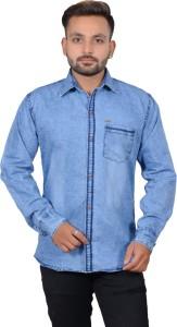 NEON-9 Men Solid Casual Spread Shirt