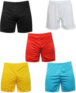Mj Store Solid Men Reversible Multicolor Sports Shorts