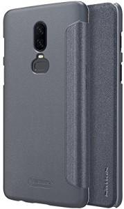 Nillkin Flip Cover for OnePlus 6 Sparkle Leather Flip Smart Sleep