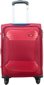 VIP ZANE 4W EXP STROLLY 59 RUBY RED Expandable  Cabin Luggage - 18 inch