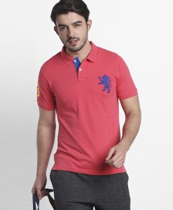 953933d63e7c7d FBB Spunk by FBB Printed Men Polo Neck Orange T Shirt Best Price in India
